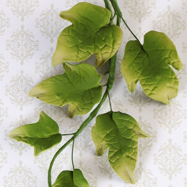 Green Ivy Leaf Filler sugarflower from gumpaste perfect for cake decorating fondant cakes and wedding cakes. Wholesale sugarflowers and cake supply.Green Ivy Leaf Filler Spray handmade gumpaste cake decoration perfect for fondant wedding cakes and birthday cakes.