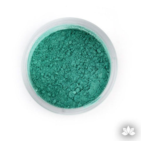 Irish Green Luster Dust colors for cake decorating fondant cakes, gumpaste sugarflowers, cake toppers, & other cake decorations. Wholesale cake supply. Bakery Supply. Lustre Dust Color.