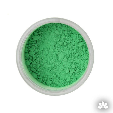 Kelly Green Petal Dust color food coloring perfect for cake decorating & coloring gumpaste sugar flowers. Caljava