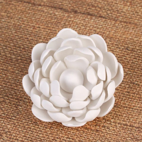 Gumpaste Lotus Sugarflower Cake Topper perfect for cake decorating fondant cakes & wedding cakes.  Wholesale cake supply.  Handmade edible cake decor. Caljava