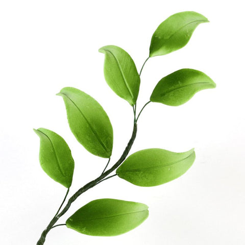 7 Green Leaf Filler sugarflower from gumpaste perfect for cake decorating fondant cakes and wedding cakes. Wholesale sugarflowers and cake supply.