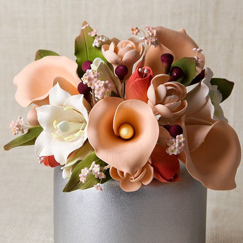 Large Lily Cake Topper - Peach