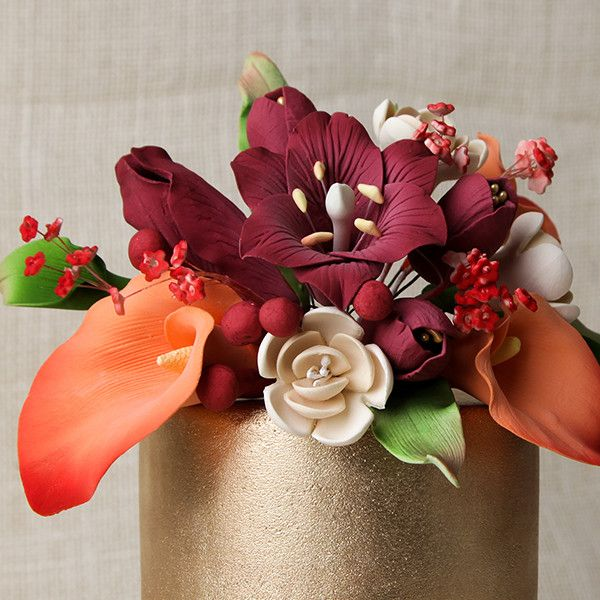 Medium Lily Cake Topper - Red