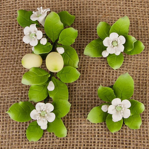 These zesty Lemon and Blossom Filler flowers are great to use as a filler with bigger sprays.  Readymade by hand from gumpaste, these gorgeous Lemon and Blosson Filler Sprays offer a way of decorating cakes hassle free for both professional and amateur decorators.