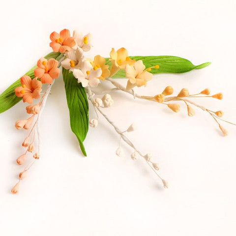 Stephanotis Sugarflower Filler Sprays perfect for cake decorating fondant cakes with cake toppers.  Wholesale cake decorations. Caljava