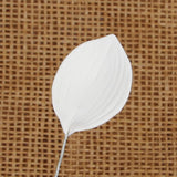 Orchid Leaf - White