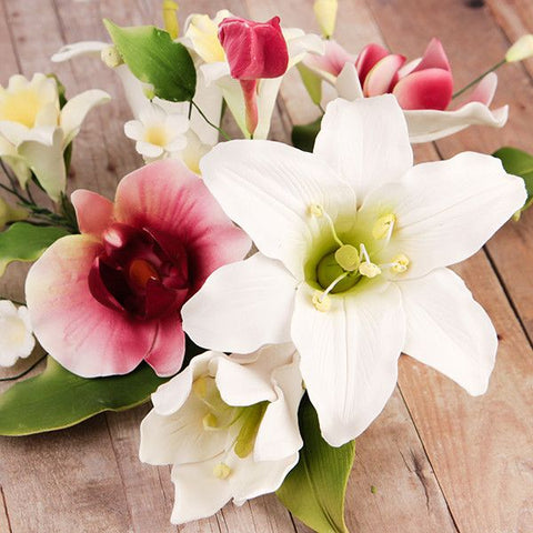 Day Lily & Phalaenopsis Orchid Large Sprays