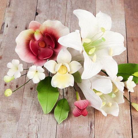Day Lily & Phalaenopsis Orchid Small Sprays