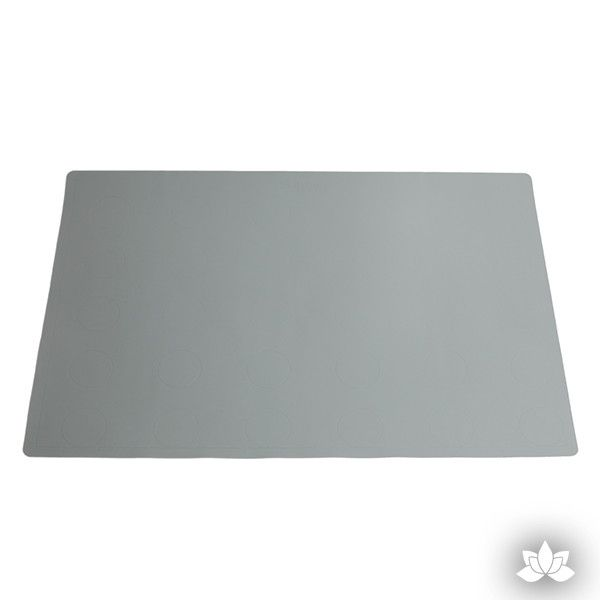 Grey Silicone baking mat perfect for baking cookies and cake decorating cupcakes and other pastries. Cake decorating tool.  Baking tool