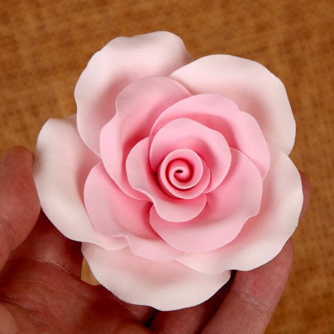 Large Gumpaste Rose Sugarflower cake topper perfect for cake decorating fondant cakes & wedding cakes. | CaljavaOnline.com