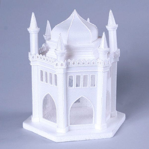 Castle Cake Topper perfect for cake decorating princess cakes & fondant cakes. Lightweight, white, made of Styrofoam. Princess Cake. Castle Cake. Frozen Cake. Wholesale Cake Decoration