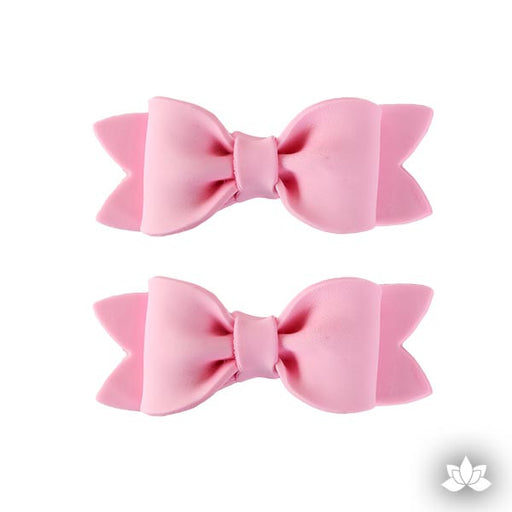 Medium Simple Bow Tie w/ Folds - Pink