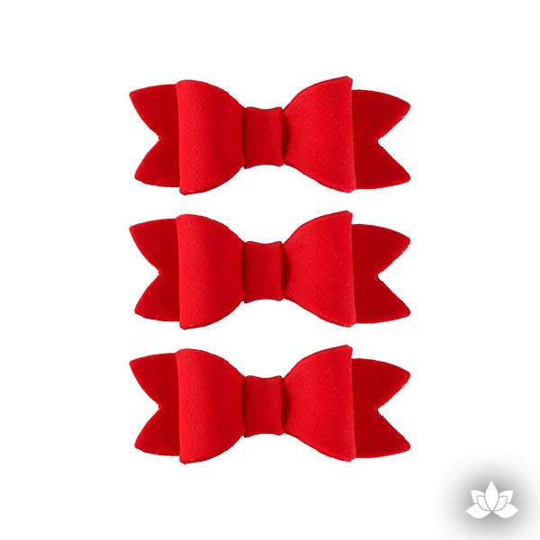 Small Simple Bow Tie - Red