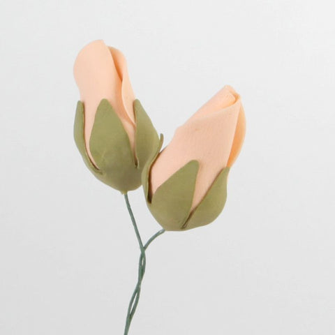 Tea Rose Buds - Peach