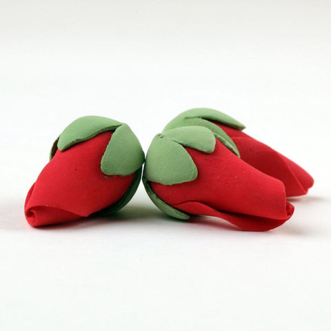 Small Rose Bud Sugarflowers made from gumpaste, cake decor perfect for cake decorating fondant cakes.  Wholesale cake supply.