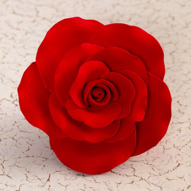 Gum paste rose sugar flower cake toppers great for decorating your own cake.