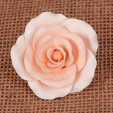 Rose Sugar Flower Cake Topper from gum paste, perfect for cake decorating your own wedding cake. | CaljavaOnline.com