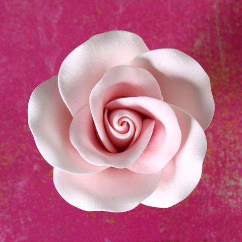 Large Pink Rose Sugarflowers cake decorations perfect for cake decorating fondant cakes & wedding cakes. Wholesale cake supply.