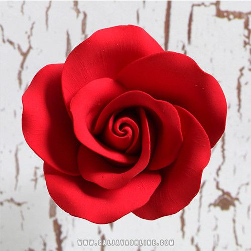 Large Tea Roses - Red