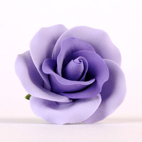 Large Gumpaste Lavender Sugar Rose cake decoration perfect for cake decorating rolled fondant wedding cakes, rolled fondant birthday cakes, and even cupcake decorating.