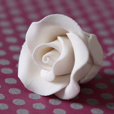 Small Tea Roses - White