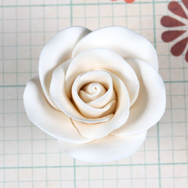 Gumpaste Tea Rose Sugarflower cake topper perfect for cake decorating fondant cakes & wedding cakes.  Wholesale sugarflowers.  Wholesale cake supply.