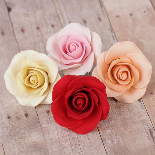 Medium Tea Roses - Assorted Colors