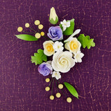 Lisianthus Sprays are gumpaste sugarflower cake decorations perfect as cake toppers for cake decorating fondant cakes and wedding cakes. Caljava wholesale cake supply.