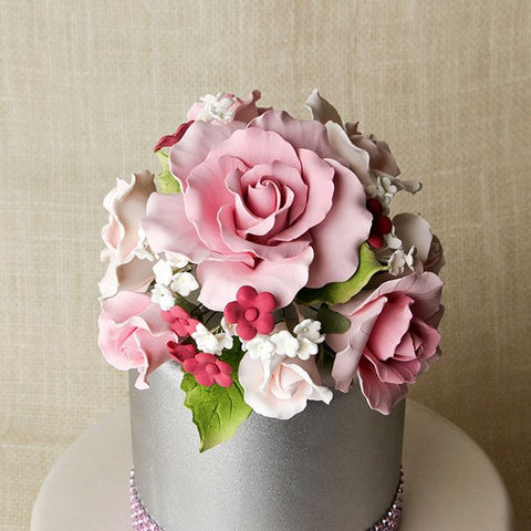 Large Garden Rose Toppers - Pink
