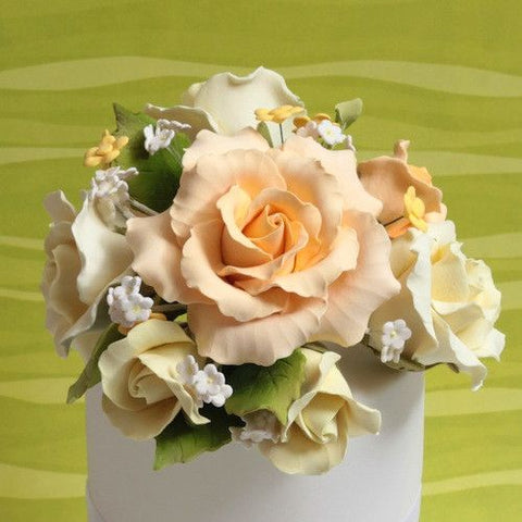 Large Garden Rose Toppers - Yellow
