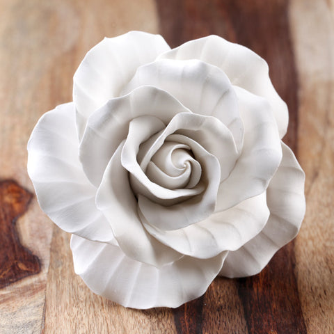 Gumpaste English Rose Sugarflower cake topper perfect for cake decorating fondant cakes & wedding cakes.  Wholesale cake supply. Edible Cake Decorations. Caljava