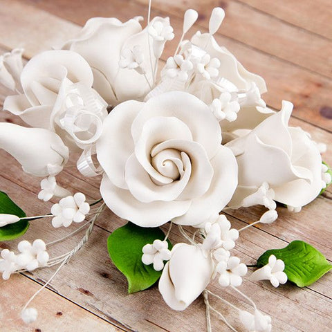 Garden Rose Sprays - White