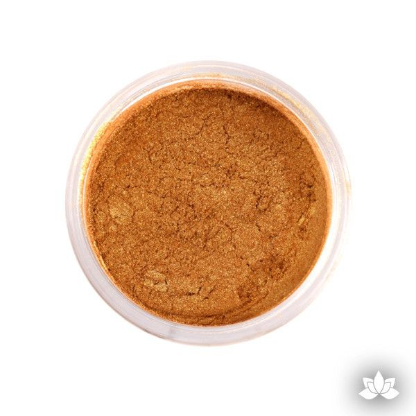 Mayan Gold Luster Dust colors for cake decorating fondant cakes, gumpaste sugarflowers, cake toppers, & other cake decorations. Wholesale cake supply. Bakery Supply. Lustre Dust Color.