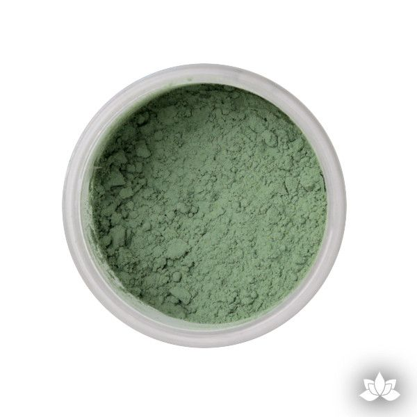 Moss Green Petal Dust food coloring perfect for cake decorating & painting gumpaste sugar flowers. Caljava