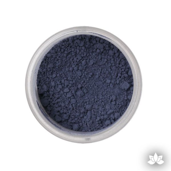 Navy Petal Dust color food coloring perfect for cake decorating & coloring gumpaste sugar flowers. Caljava