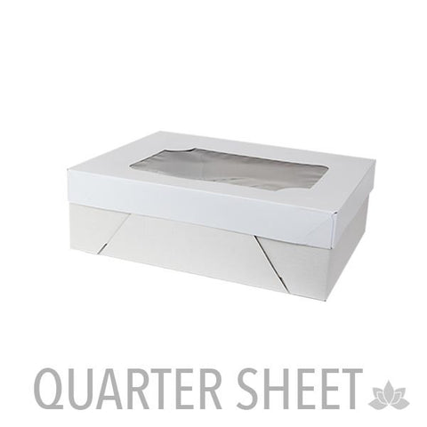 Oversized Sheet Window Cake Boxes - White