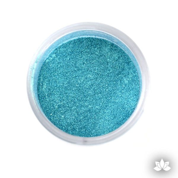 Teal Luster Dust Colors food coloring perfect for cake decorating fondant cakes, cupcakes, cake pops, wedding cakes, and sugarflowers. Dusting color. Cake supply. Ocean Green
