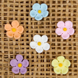 Small Edible Daisy Blossom Cupcake Toppers.  Great for decorating your own cupcakes & cakes. Made from gumpaste.
