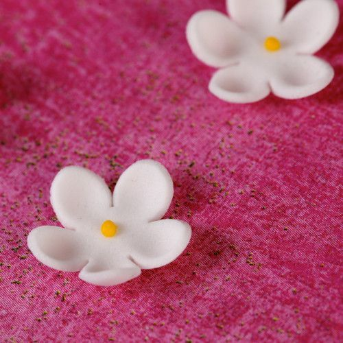 Mini Edible Flower Blossoms perfect for cakes and cupcakes handmade cake decoration.
