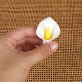 Small gumpaste calla lily cake decoration perfect as a cake topper for cake decorating rolled fondant wedding cakes and rolled fondant birthday cakes, also works as a great cupcake decoration.