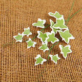 Green & White Ivy Leaf Filler sugarflower from gumpaste perfect for cake decorating fondant cakes and wedding cakes. Wholesale sugarflowers and cake supply.