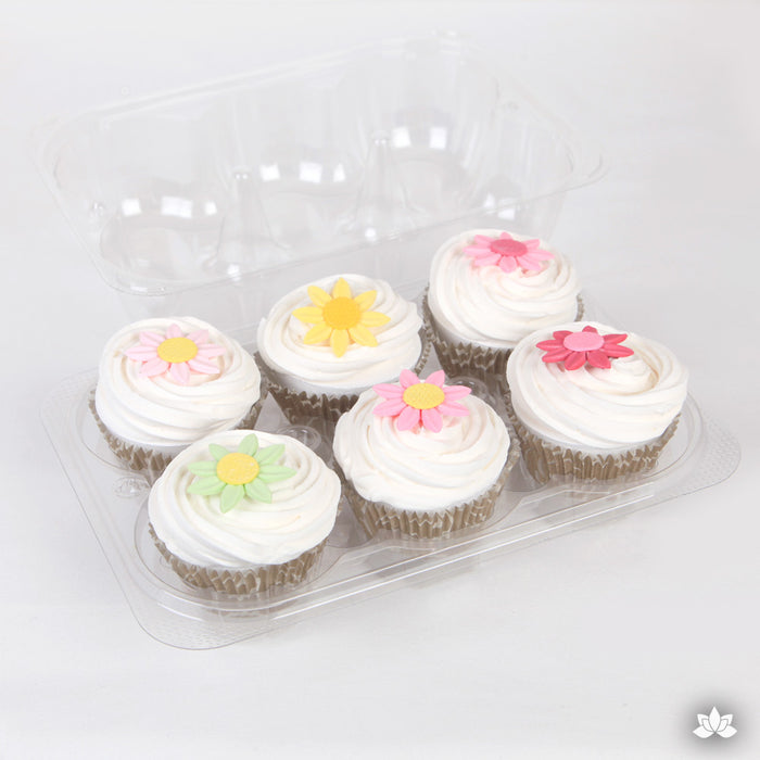 Cupcake Container - 6 Cavity Tray with Lid great for protecting and presenting your cupcakes. Cupcake Box