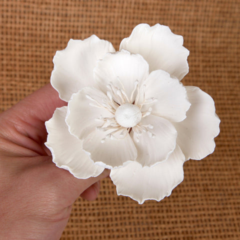 Gumpaste Poppy Sugarflower cake topper perfect for cake decorating fondant cakes & wedding cakes. | CaljavaOnline.com