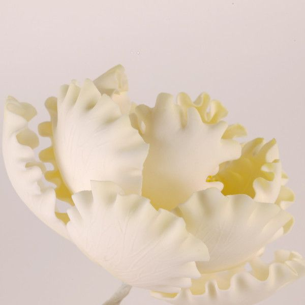 Yellow Gumpaste Peony sugarflower handmade edible sugar cake decoration.  Perfect for fondant wedding cakes and birthday cakes. Caljava