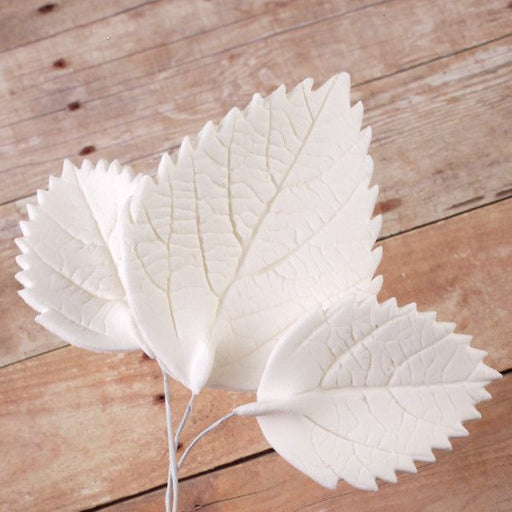 Readymade Hydrangea & Rose Leaves Sugarflowers perfect for cake decorating fondant cakes and pairing with rose & hydrangea sugarflowers.  Wholesale cake decor