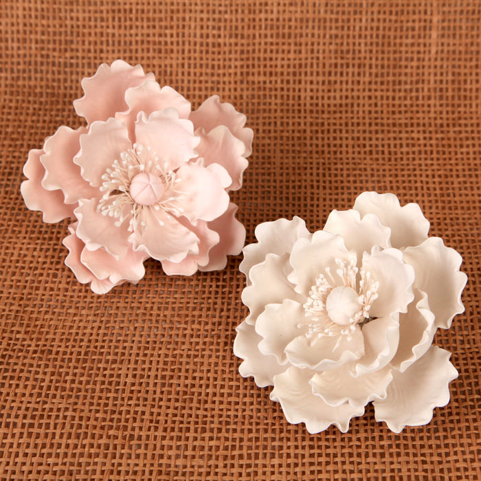 Sugarflower cake topper great for cake decorating wedding cakes. | CaljavaOnline.com