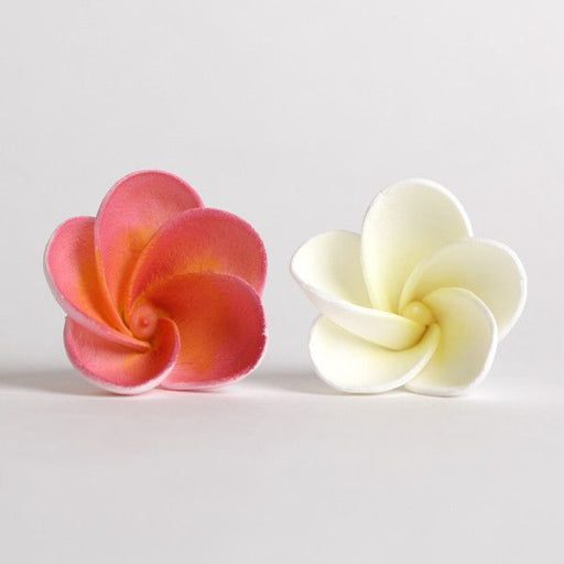 Mixed Plumeria Sugarflower cake toppers made from gumpaste. Wholesale cake supply.