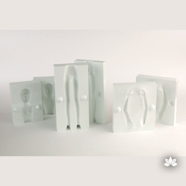 Woman Mold from PME gumpaste tool for cake decorating fondant wedding cakes and birthday cakes.