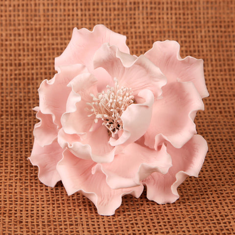 Large Gumpaste Peony Sugarflower cake topper perfect for cake decorating fondant cakes & wedding cakes. | CaljavaOnline.com