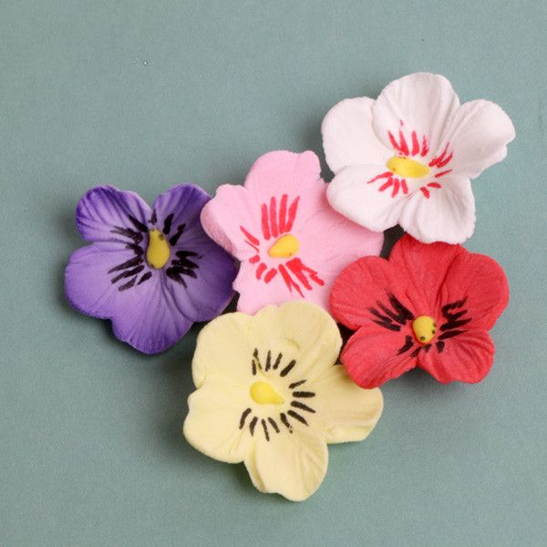 Petite Pansies Gumpaste Sugarflower edible cake decoration perfect for adding on top of your cakes and cupcakes.